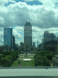 View of downtown Indy from the top floor.